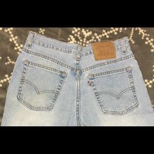 Levi light wash mom jeans
